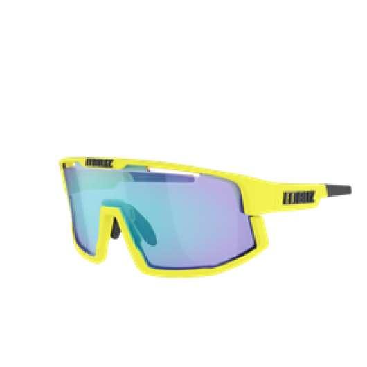 Bliz Vision Matt Neon Yellow, Smoke With Blue Multi