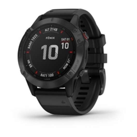 Garmin Fenix 6 Pro Black W/Black Band Gps Watch