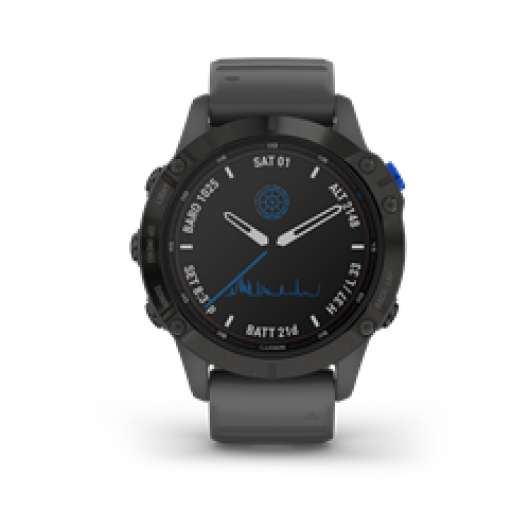 Garmin Fenix 6 Pro Solar Black With Slate Gray Band
