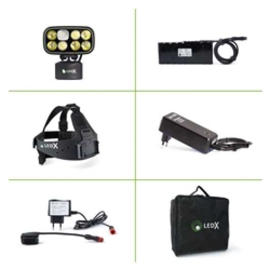 Ledx Cobra 6 500 X-Pand Kit, Backup Battery And Automatic Charger