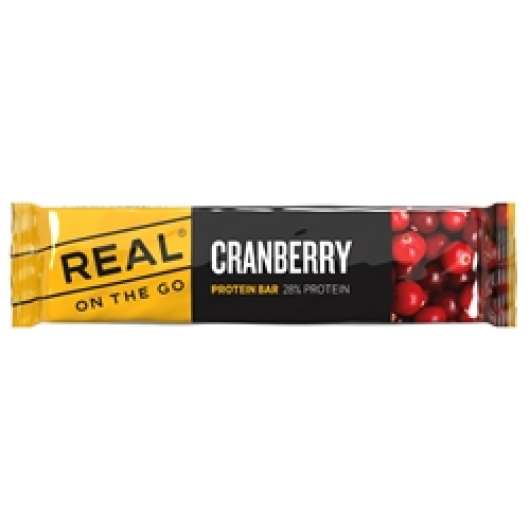 Real On The Go Cranberry Protein Bar